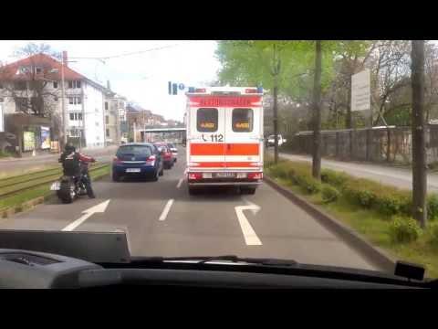 Rettungswagenfahrt durch Leipzig