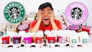 I Ordered Every Drink From Starbucks Pinkity Drinkity