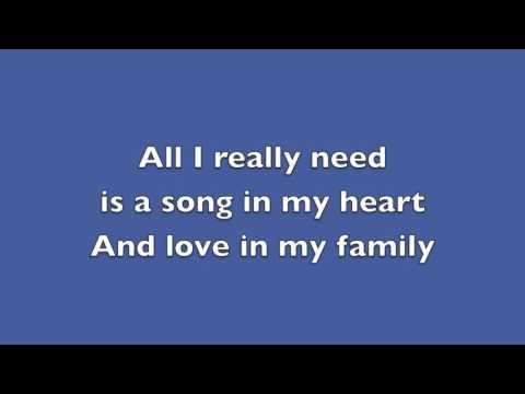 All I Really Need Lyrics
