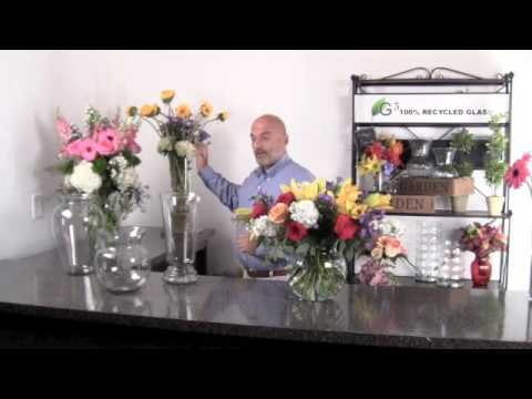 Large Vase Floral Arrangement Youtube