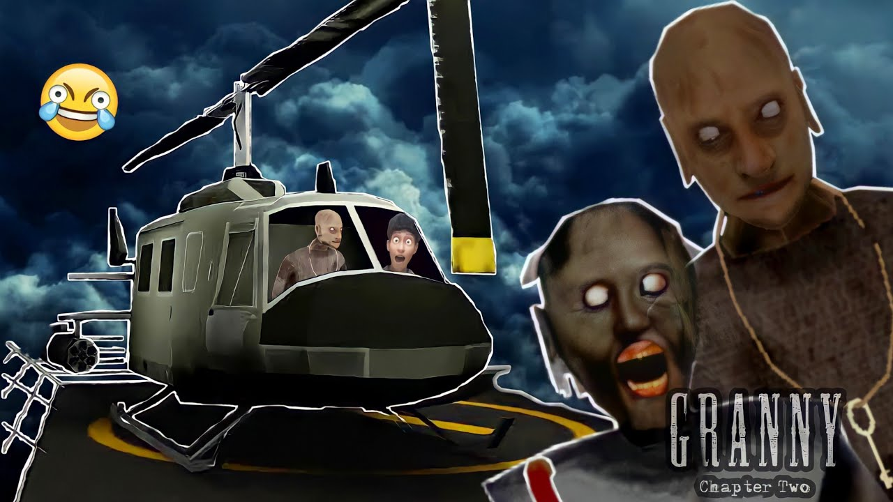 Download Granny Ka Helicopter Chura Liya😂 | Granny Chapter 2 Helicopter Escape