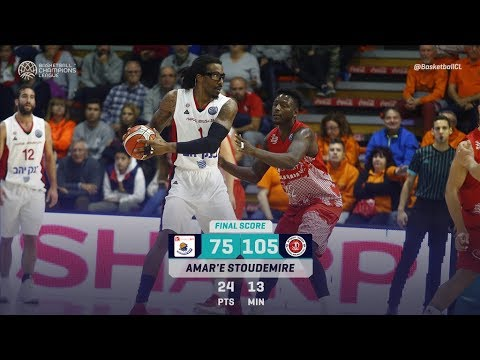 !Amare Stoudemire CRAZY Game in Champions League (24 Pts in 14 Minutes) ● Just Like Old Times