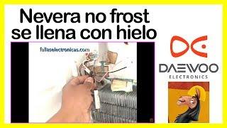 Nevera no frost Daewoo se llena con hielo