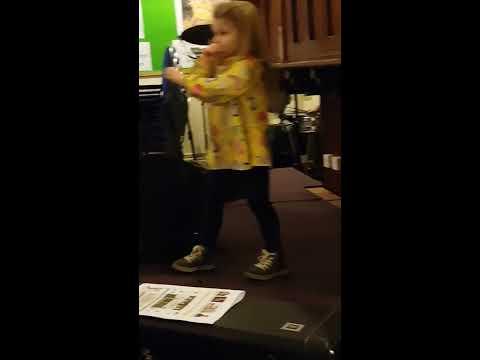 Indi playing with Somersham Town Band