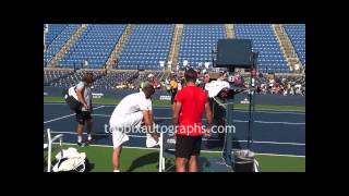 Stan Wawrinka - Signing Autographs at the 2011 U.S. Open in Flushing Meadows