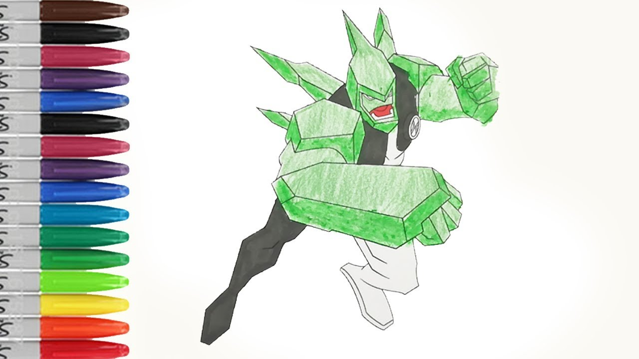 diamond head fighting ben 10 alien coloring pages sailany coloring