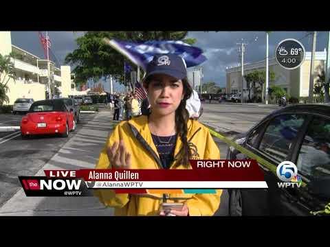 Local Haitians protest President Trump