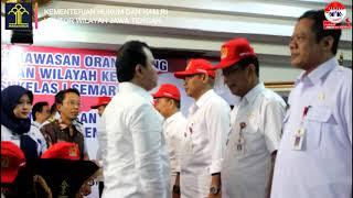 Pengukuhan Tim PORA Tingkat Kecamatan Wilayah Kerja Kantor Imigrasi Semarang