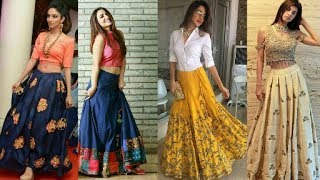 Skirt Dresses with Shirt/Top and Short kurtis (wedding, festival,party wear.)|By Beautiful You