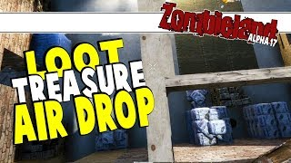 Zombieland - UI Update, Farming Modlet, Treasure & Air Drops | 7 Days To Die Alpha 17 | Part 17