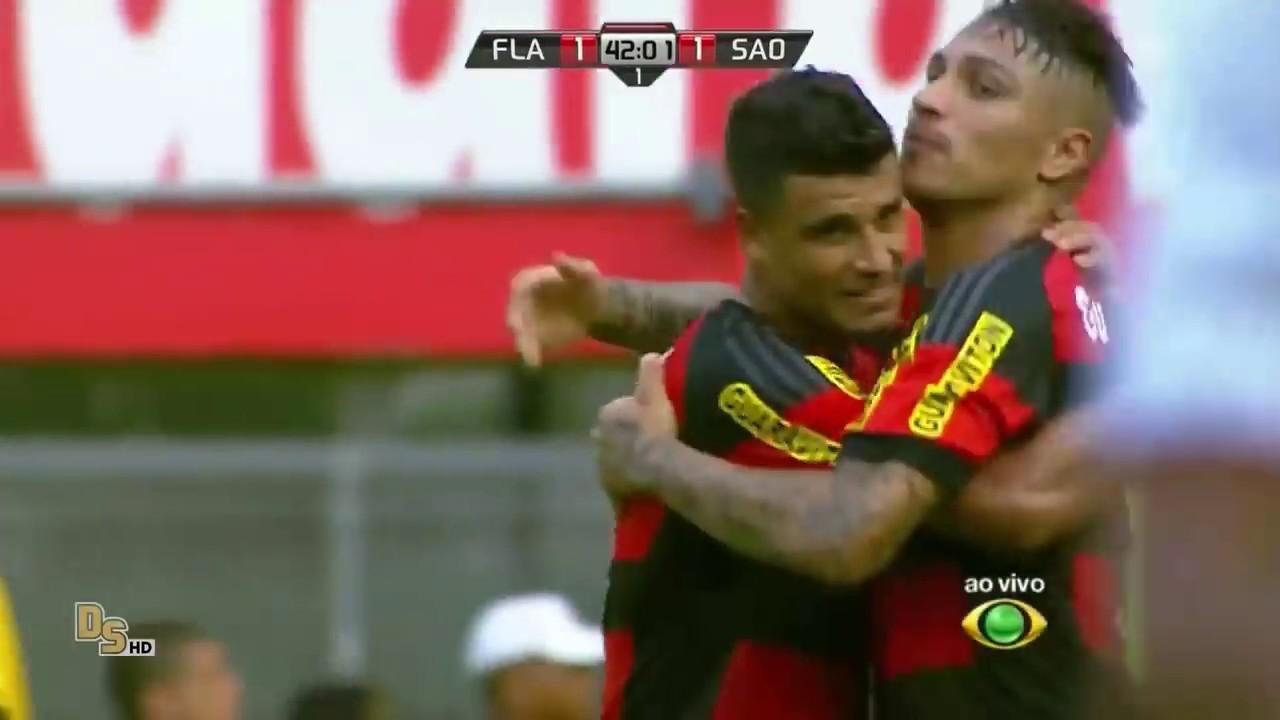 Gols Flamengo 2 x 1 São Paulo 60 fps - Brasileirão 2015 ...