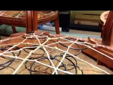 Paso a paso sillas con muelles youtube - Como tapizar sillas ...