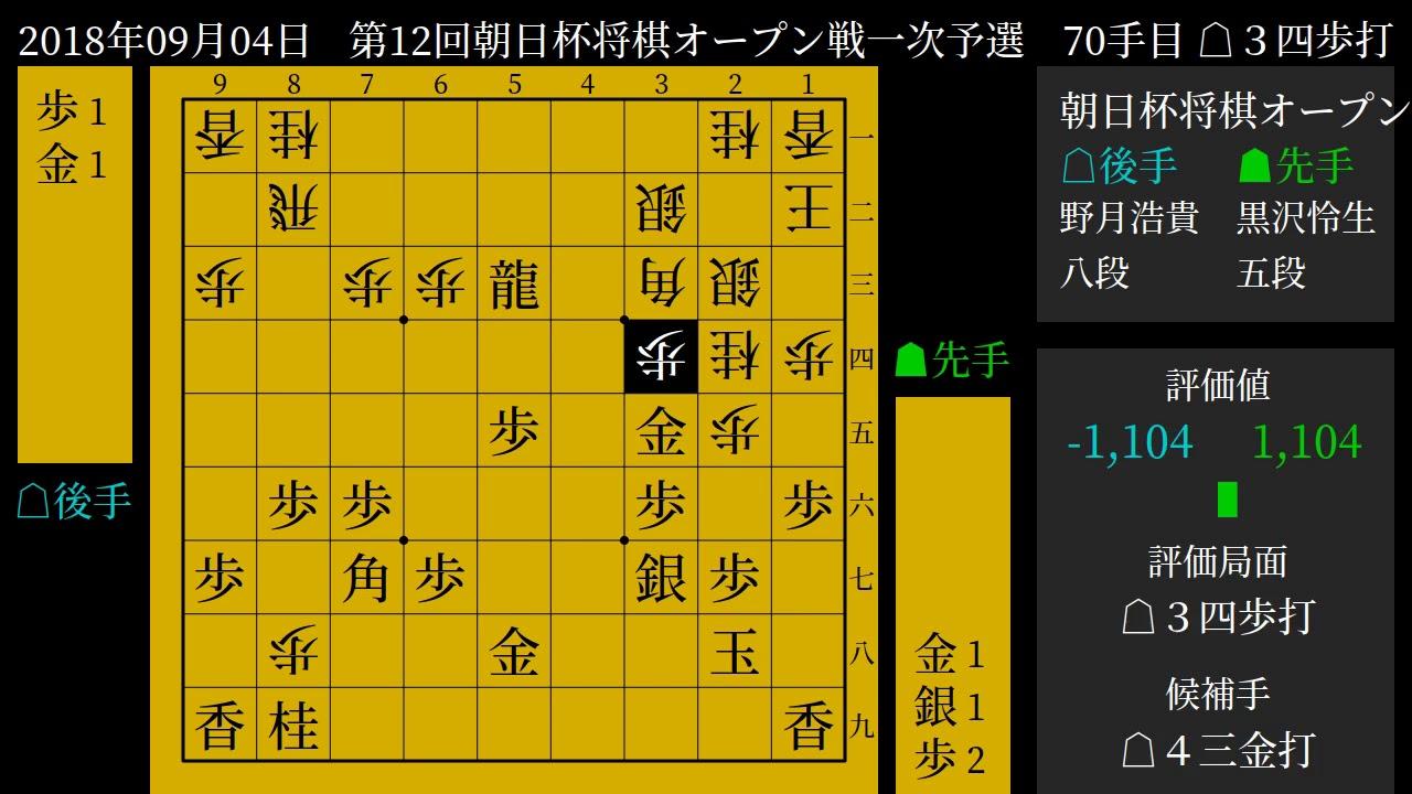 将棋] 棋譜並べ 黒沢怜生 五段 v...