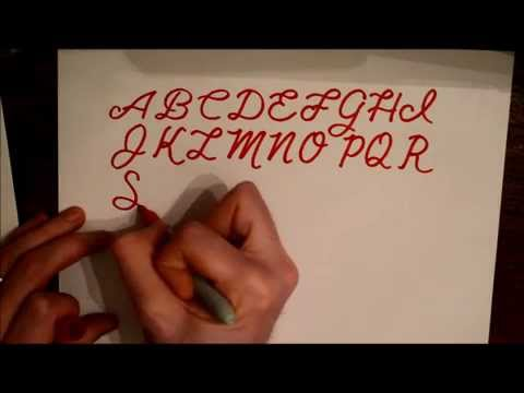 How to hand draw a simple cursive alphabet - script lettering tutorial