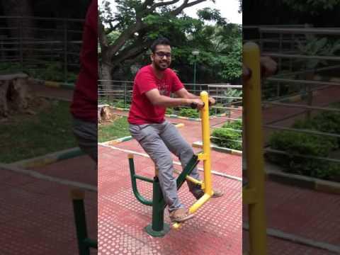Exercise Equipment For Public At Bugle Rock Park, Basavangudi, Bangalore.