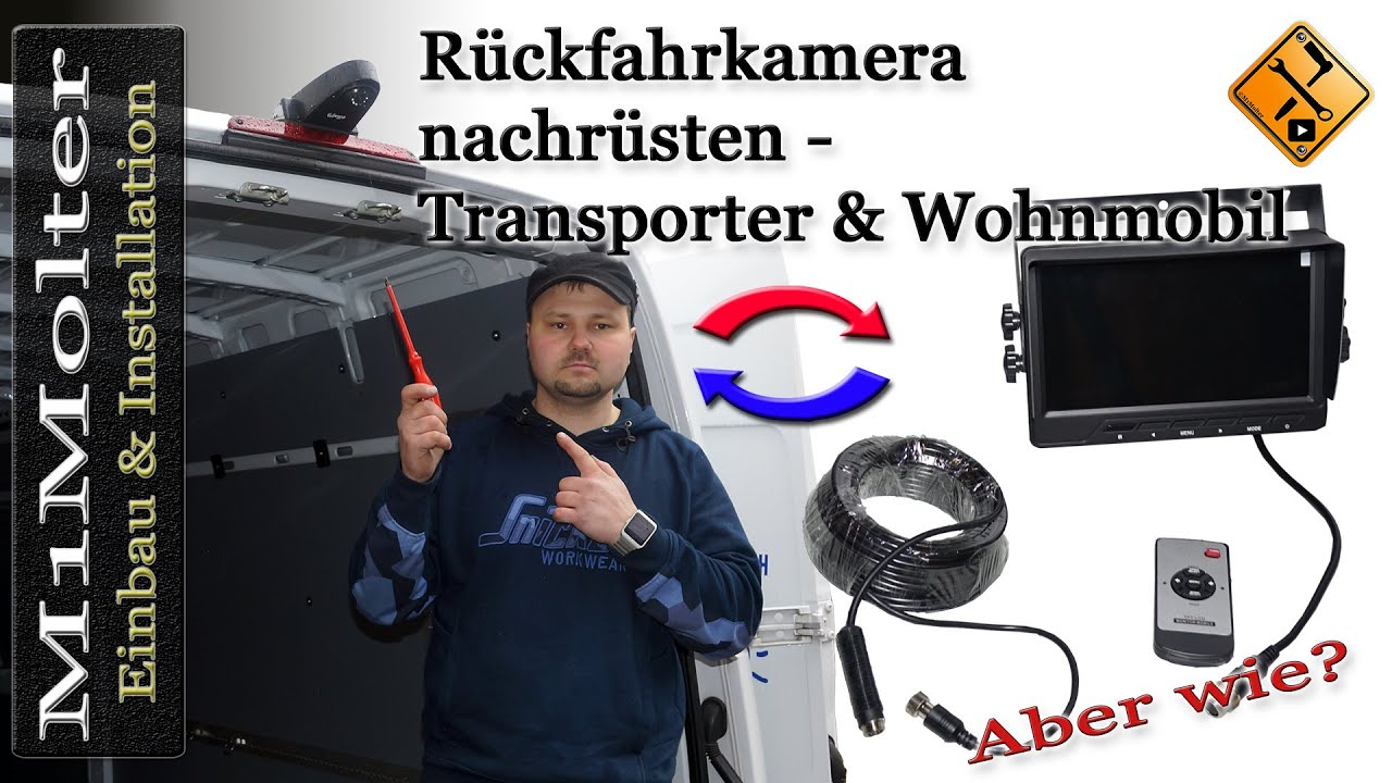 r ckfahrkamera nachr sten transporter wohnmobil einbau installation leer youtube. Black Bedroom Furniture Sets. Home Design Ideas