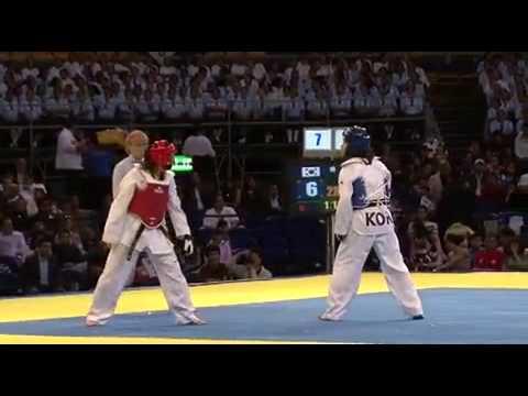 Sujeong Lim vs Euda Carias round 2 La Liga Mundial de Taekwondo. World Taekwondo Tour, 2009.