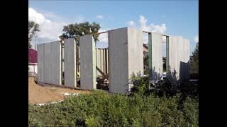 Двухэтажный щитовой дом с плоской крышей