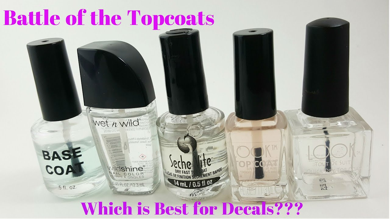 Battle of the Topcoats: Which is Best for Decals??? - YouTube