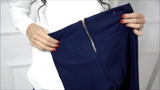 Spodnie rurki legginsy z zamkiem - zoio.pl