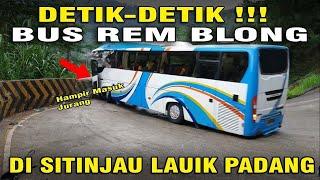 Download Detik-detik Bus Rem Blong di sitinjau lauik Mp3 and Videos