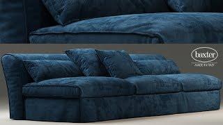 "№155. Sofa modeling "" Housse mono baxter "" Autodesk 3ds Max & marvelous designer"