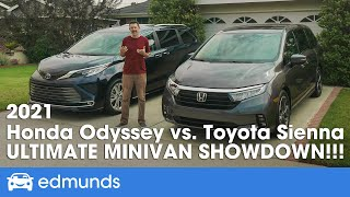 2021 Honda Odyssey vs. Toyota Sienna -  Minivan Comparison: Who Has the Best Family Vehicle?
