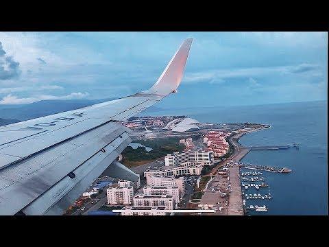 Красивый полет Utair в Сочи Boeing 737-800