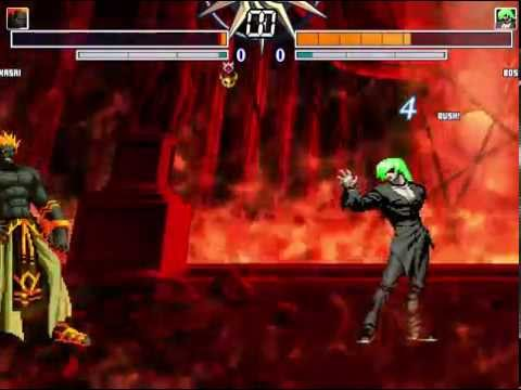 KOF MUGEN Kasai VS element boss G