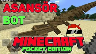 Modsuz Bottan Asansör Yapımı | Minecraft PE Türkçe | MCPE 0.15.6