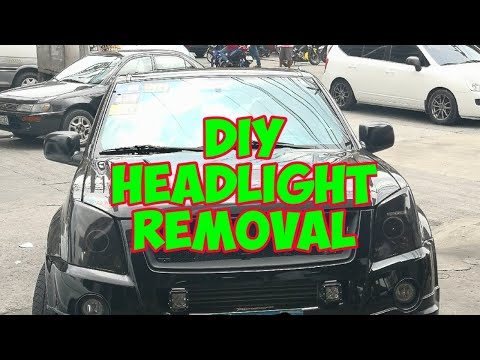 Isuzu 4jj1 Headlight Removal