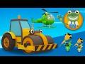 Rick The Road Roller Visits Gecko's Garage   Construction Trucks For Children