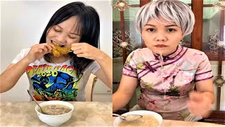Video funny mother and daughter - The child is gluttonous and the ending is unexpected.#13