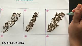 HENNA MEHNDI FOR BEGINNERS - TYPES OF STRIPS | BEST ONLINE MEHENDI LEARNING TUTORIAL