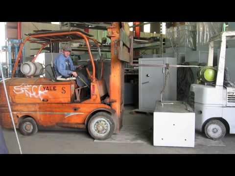 10000lb. Forklift Pull Test On Sturdy Gun Safe Door