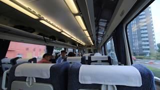 "JR四国 特急「いしづち」 新居浜駅発車の車窓と車内風景 Limited express ""Ishiduchi"" JR Yosan Line Niihama Station (2018.9)"