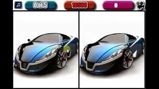 Sport cars five difference - Free Online Games