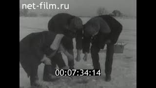 1968г. Астрахань. зимняя рыбалка