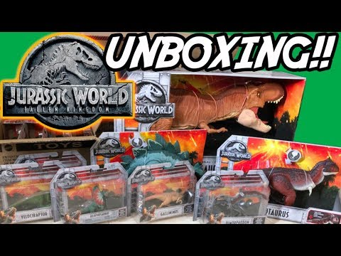 JURASSIC WORLD Fallen Kingdom TOYS!! | Unboxing Opening | FIRST LOOK | Mattel