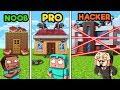 Minecraft - SECURE HOUSE DEFENSE! (NOOB vs PRO vs HACKER)