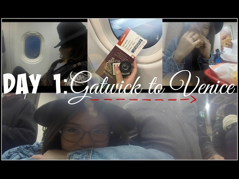 Vlog Day 1: Gatwick To Venice/Burger King