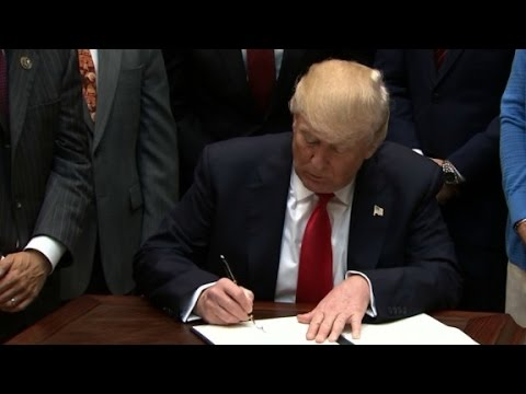Trump signs offshore drilling executive order