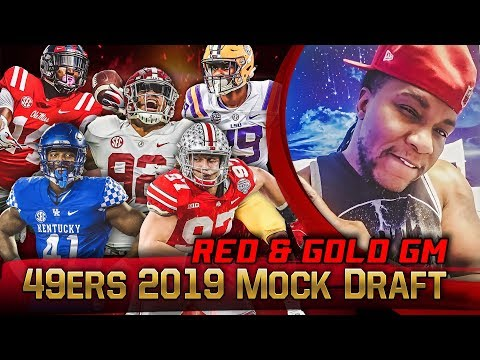 Live! 49ers Mock Draft 2019 - Ronbo Sports Red & Gold GM EP 6