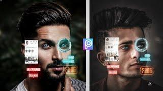 Instagram viral futuristic Photo editing in PicsArt || Instagram 3d Photo editing Tutorial ||