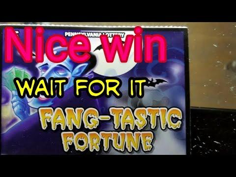 Winner 4 Fang-Tastic Fortune Pa lottery scratch tickets.