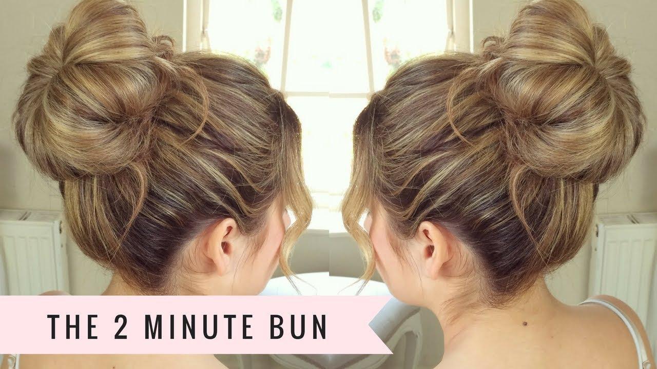 two minute bun sweethearts hair