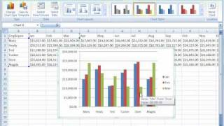 Excel 2007 Tutorial 17: Creating Charts