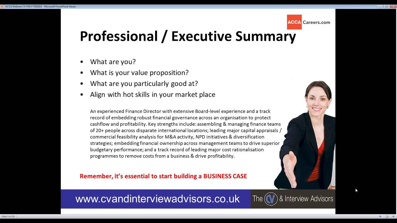 2014 02 24 19 14 how to write a high impact interview winning cv acca youtube - Acca Cv