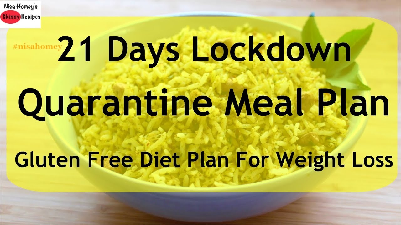 Quarantine Meal Plan/Diet Plan For Weight Loss - Gluten Free Diet Plan - Thyroid PCOS Weight Loss