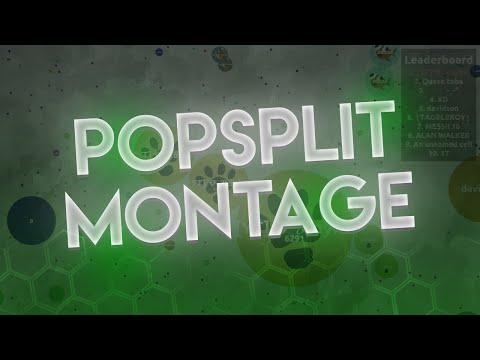 20 POPSPLITS!! // POPSPLIT MONTAGE   Agar.io